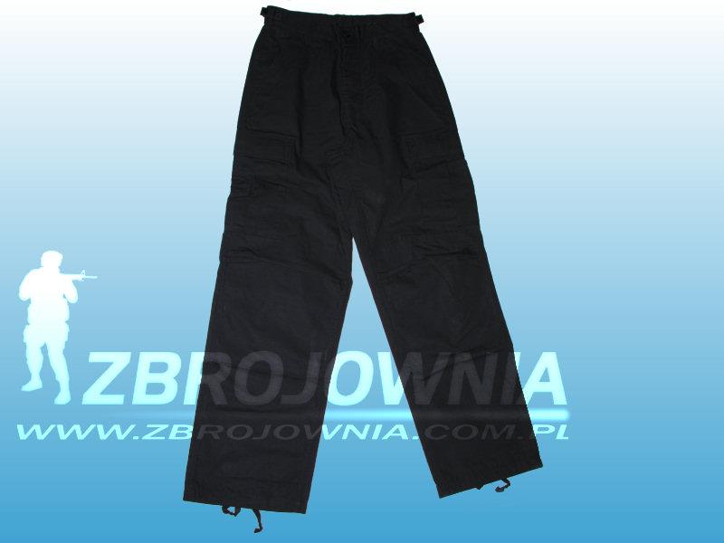 Zdjęcie: Spodnie typ BDU Czarne NYCO